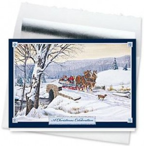 Design #143CS - A Christmas Celebration Holiday Card