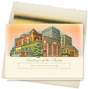 Design #145CX - Hometown Holiday Die-Cut Christmas Card