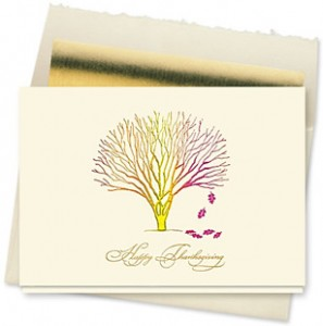 Design #158CX - Little Tree of Thanks Holiday Card