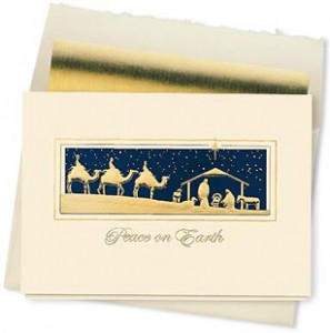Design #368CX - Golden Magi Peaceful Christmas Card