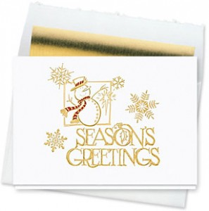 Design #092CW - Frosty Season's Greetings