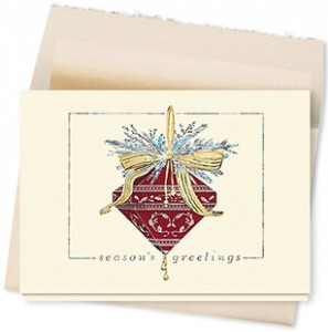 Design #072CT - Burgundy Jewel Card