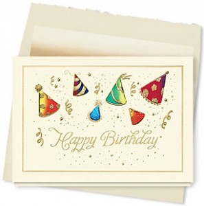 Design #088AY - Hats Off to You Birthday Card