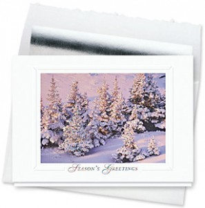 Design #168CS, Glimmering Pines Christmas Card