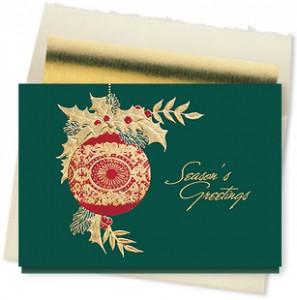 Design #887CX - Golden Accents Seasons Greeting Card