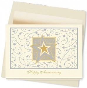 Design #338AY - Starlight Anniversary Card
