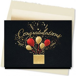 Design #899AY - Bursting Congratulations Wishes Card