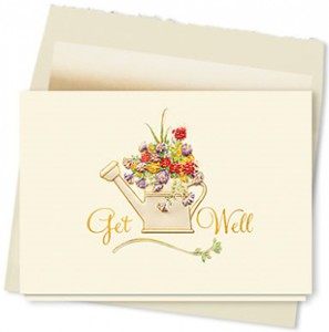 Design #184AY - Garden Bouquet Get Well Card