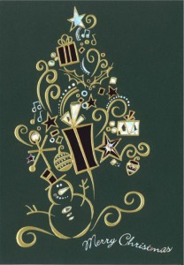 Design Concept - Dark Green Card with Gold Foil