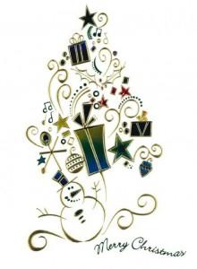 Design Concept - White Card with Multi-Colored Foil
