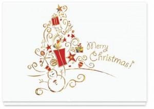 Design #798CW - Holiday Tree Christmas Card
