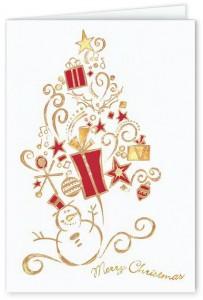 Design #730CW - Snowman Surprise Christmas Card