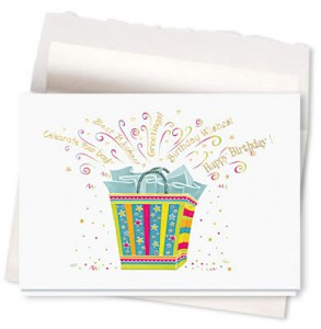 Design #232AR - Gift Bag Wishes Birthday Card