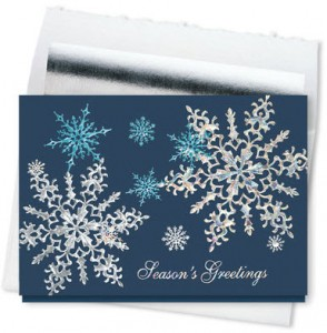 Design #850CS - Midnight Snowflake Sparkle Holiday Card