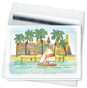 Design 709CS - Greetings from Paradise Holiday Card