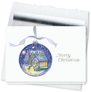 Design 713CS - Glowing Ornament Christmas Card