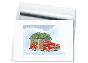 Design 725CS - Vintage Holiday Greetings Card