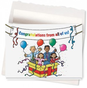 Design 644AR - Congratulations Banner Greeting Card
