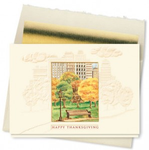 Design 717CX - Thanksgiving in the Park Holiday Card