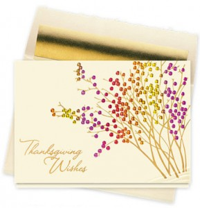 Design 739CX - Thanksgiving Berry Garden Holiday Card