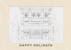Design 157CW - Holiday Toy Shoppe Christmas Card Stage 2