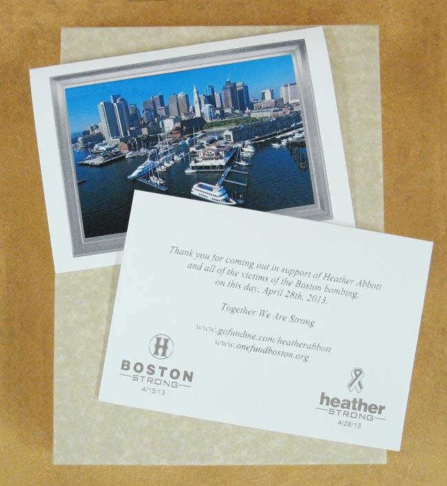 Boston Marathon Fundraiser Cards