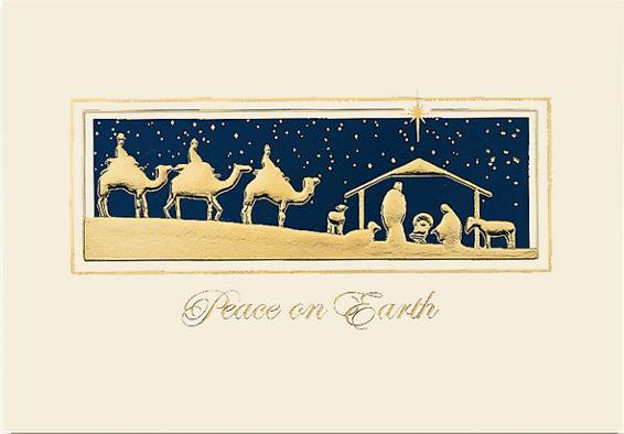 Golden Magi Peaceful Christmas Card