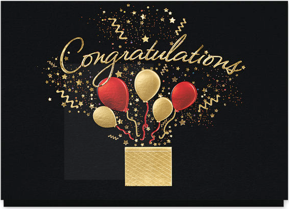 Bursting Congratulations Wishes Card