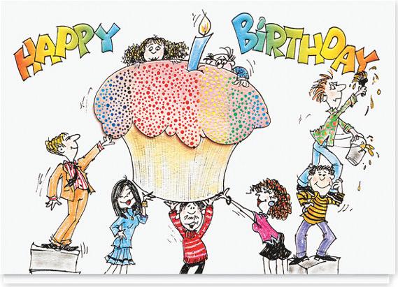 Cupcake Surprise Birthday Card