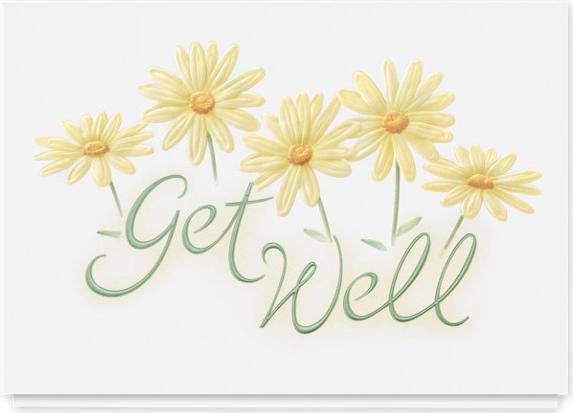 Meadow Flower Get Well Card