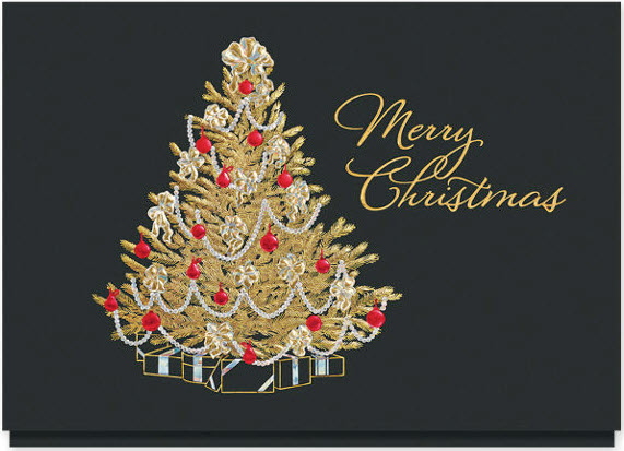 Christmas Bows and Beads Card