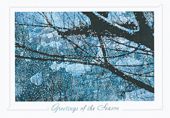 Full Moon Winter Night Christmas Card