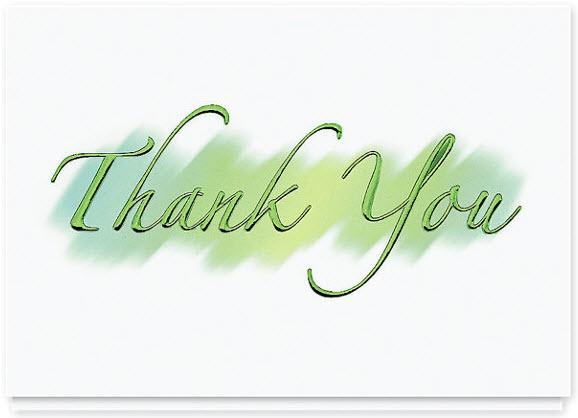 Brushstroke Thank You Greeting Card