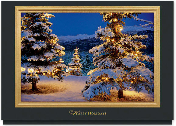 Glowing Holiday Forest Card    Glowing Holiday Forest Card