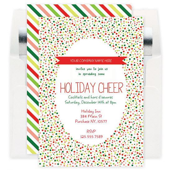 Holiday Cheer Corporate Party Invitation