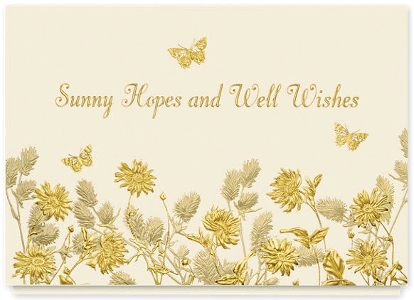 Sunny Hopes and Well Wishes Get Well Card