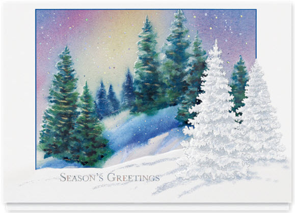 Shimmering Forest Holiday Card