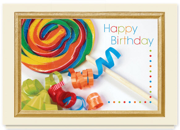 Lollipop Birthday Card