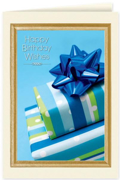 Royal Blue Birthday Card