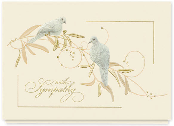 Sympathy Doves Greeting Card