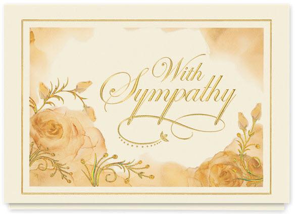 Silken Roses Sympathy Card