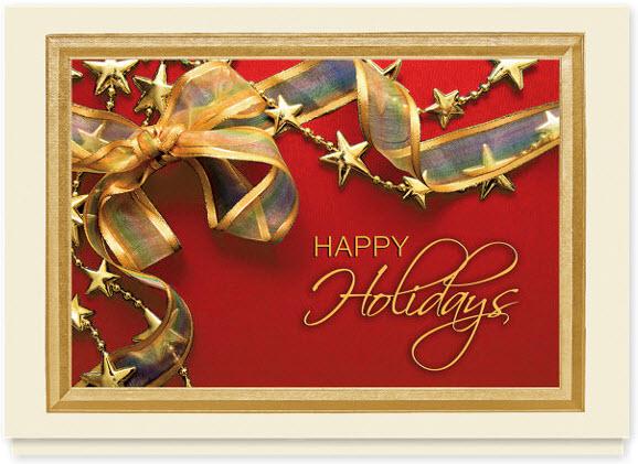 Holiday Ribbon and Stars Card