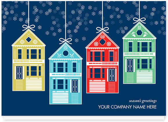House Ornaments Christmas Card