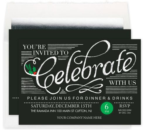 Save the Date Holiday Party Invitation