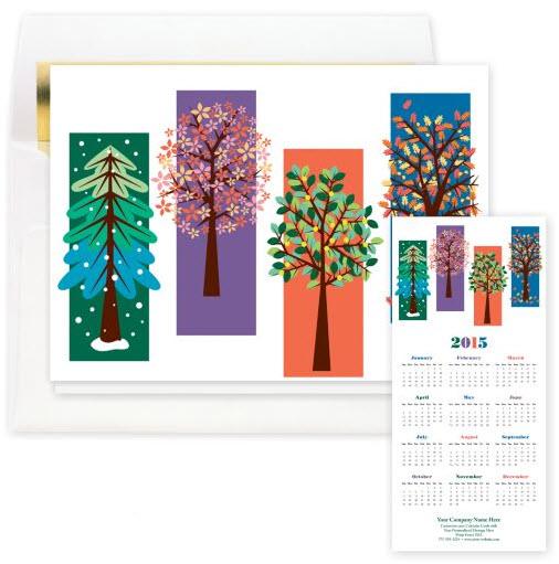 Four Seasons Calendar Card