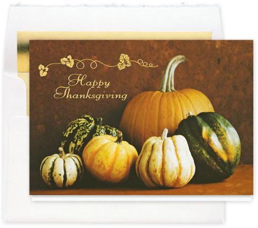 Harvest Bounty Thanksgiving Card