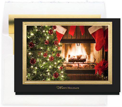 Holiday Hearth Card