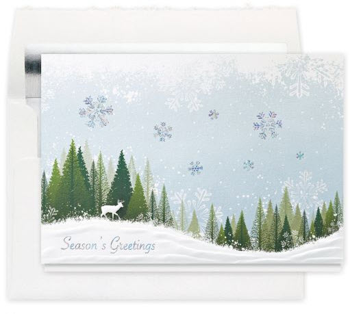 Snowy Forest Greetings Christmas Card