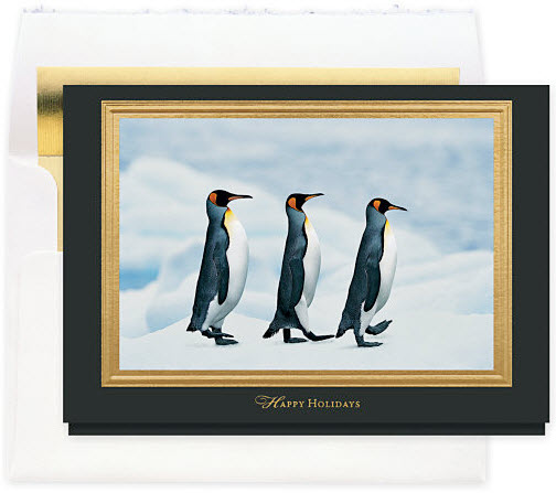 Holiday Penguins Card
