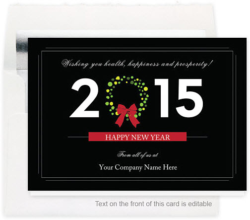 Dated Wreath New Year's Card
